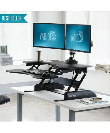 ProPlus™ 36 Turns any desk into a standing desk Black