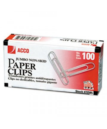 Premium Paper Clips, Smooth, Jumbo, Silver, 100/box, 10 Boxes/pack