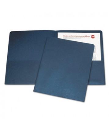 7510005842489, DOUBLE POCKET PORTFOLIO, LETTER SIZE, DARK BLUE, 25/BOX