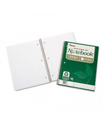7530016002028, RECYCLED NOTEBOOK, COLLEGE RULE, 11 X 8 1/2, WHITE, 80/PAD, 3/PK
