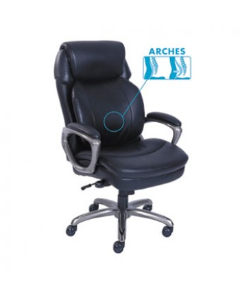 Cosset High-Back Executive Chair, Supports up to 275 lbs., Black Seat/Black Back, Slate Base