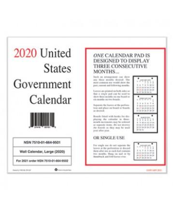 Ucr Calendar 2020 7530016649501 Monthly Wall Calendar, 9 x 11, 2020, 10/Pack
