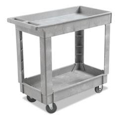 Utility Cart Two Shelf 16w X 34d Swivel Casters Resin