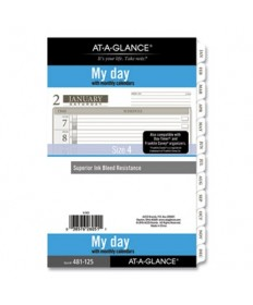 1-Page-Per-Day Planner Refills, 8.5 x 5.5, White, 2022