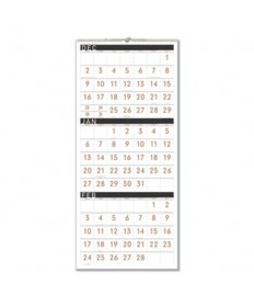 Contemporary Three-Monthly Reference Wall Calendar, 12 x 27, 2019-2021