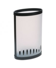 Elliptical Umbrella Stand, 14 7/8w X 8 3/4d X 23 3/8h, Translucent