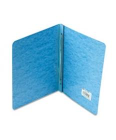 "Presstex Report Cover, Side Bound, Prong Clip, Letter, 3"" Cap, Light Blue"