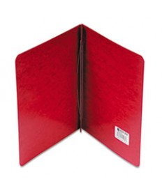 Presstex Report Cover, Side Bound, Prong Clip, Letter, 3 Cap, Executive Red
