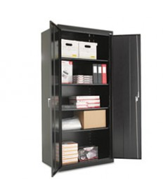 Assembled 42 High Storage Cabinet, W/adjustable Shelves, 36w X 18d, Putty