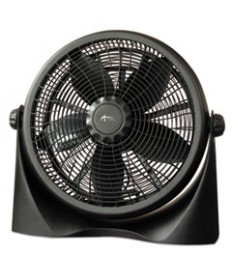 16 Super-Circulation 3-Speed Tilt Fan, Plastic, Black