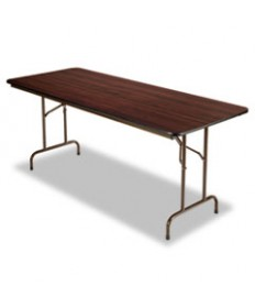 Wood Folding Table, Rectangular, 72w X 29 3/4d X 29h, Mahogany