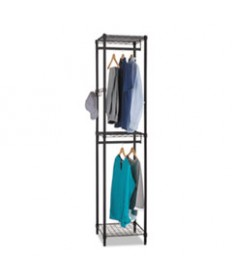 Wire Shelving Garment Tower, 18w X 18d X 81 3/4h, Black