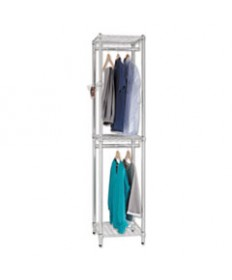 Wire Shelving Garment Tower, 18w X 18d X 81 3/4h, Silver