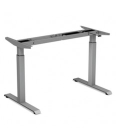 2-Stage Electric Adjustable Table Base, 27 1/2 To 47 1/4 High, Gray