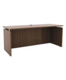 Alera Sedina Series Bow Front Desk Shell, 72w X 42d X 29 1/2h, Espresso
