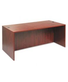 Alera Valencia Series Straight Desk Shell, 47 1/4w X 29 1/2d X 29 5/8h, Mahogany