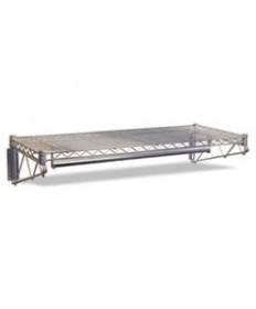 Steel Wire Wall Shelf Rack, 36w X 18d X 7-1/2h, Silver