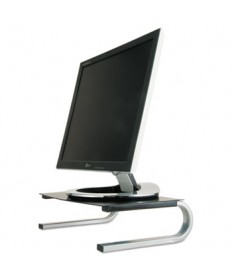 "REDMOND MONITOR STAND, 14.63"" X 11"" X 4.25"", BLACK/GRAY/SILVER, SUPPORTS 40 LBS"