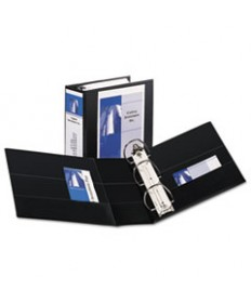 "DURABLE VIEW BINDER WITH DURAHINGE AND EZD RINGS, 3 RINGS, 5"" CAPACITY, 11 X 8.5, BLACK, (9900)"