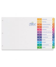Ready Index Customizable Table Of Contents Multicolor Dividers, 12-Tab, 11 X 17