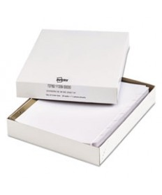 Index Dividers W/white Labels, 9 3/4 X 11 1/2, 8-Tab, 25 Sets