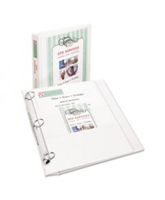 "FLIP BACK 360 DEGREE DURABLE VIEW BINDER WITH ROUND RINGS, 3 RINGS, 1"" CAPACITY, 11 X 8.5, WHITE"