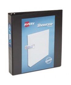 """SHOWCASE ECONOMY VIEW BINDER WITH ROUND RINGS, 3 RINGS, 1.5"""" CAPACITY, 11 X 8.5, BLACK"""