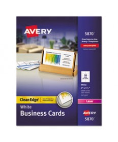 Clean Edge Business Card Value Pack, Laser, 2 X 3 1/2, White, 2000/box