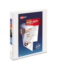 """HEAVY-DUTY VIEW BINDER WITH DURAHINGE AND ONE TOUCH EZD RINGS, 3 RINGS, 1"""" CAPACITY, 11 X 8.5, WHITE"""