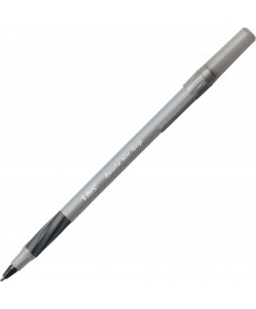 Round Stic Grip Xtra Comfort Stick Ballpoint Pen, 1.2mm, Black Ink, GY Brl, 36PK