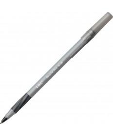 ROUND STIC GRIP XTRA COMFORT STICK BALLPOINT PEN VALUE PACK, 1.2MM, BLACK INK, GRAY BARREL, 36/PACK