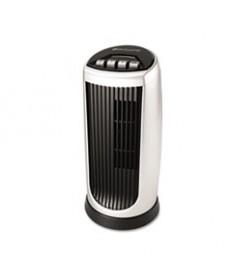 Personal Space Mini Tower Fan, Two-Speed, Black/silver