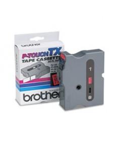 Tx Tape Cartridge For Pt-8000, Pt-Pc, Pt-30/35, 1w, White On Black