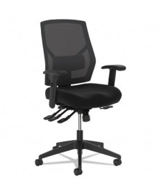 VL582 High-Back Task Chair, Supports up to 250 lbs., Black Seat/Black Back, Black Base