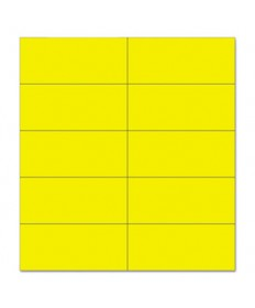 Dry Erase Magnetic Tape Strips, Yellow, 2 X 7/8, 25/pack