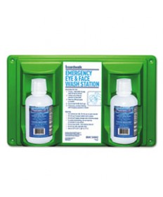 Emergency Eyewash Station, 16 Oz Bottle, 2 Bottles/station
