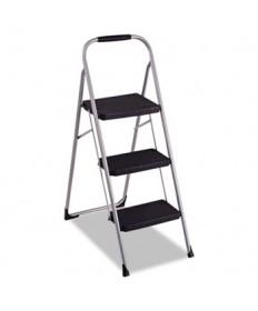 3-Step Big Step Folding Stool, 200 lb Capacity, 17.75w x 28d x 45.63h, Light Gray