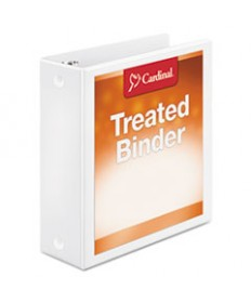 Treated Binder Clearvue Locking Round Ring Binder, 1 Cap, 11 X 8 1/2, White