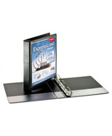 Expressload Clearvue Locking D-Ring Binder, 1 1/2 Cap, 11 X 8 1/2, Black