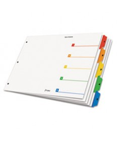 Onestep Printable Table Of Contents Dividers, 5-Tab, 11 X 17, Multicolor Tabs