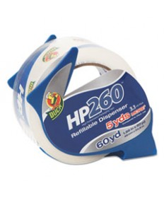 """HP260 PACKAGING TAPE WITH DISPENSER, 3"""" CORE, 1.88"""" X 60 YDS, CLEAR"""