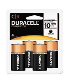Coppertop Alkaline Batteries, C, 4/pk