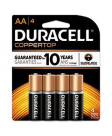 Coppertop Alkaline Batteries With Duralock Power Preserve Technology, Aa, 4/pk