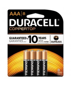 Coppertop Alkaline Batteries, Aaa, 8/pk, 40 Pk/carton