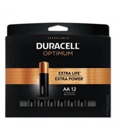 Optimum Alkaline AA Batteries, 12/Pack
