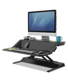 """LOTUS SIT-STANDS WORKSTATION, 32.75"""" X 24.25"""" X 5.5"""" TO 22.5"""", BLACK"""
