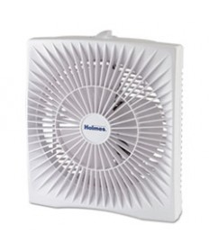 10 Personal Size Box Fan, Plastic, White