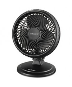 Lil' Blizzard 7 Two-Speed Oscillating Personal Table Fan, Plastic, Black
