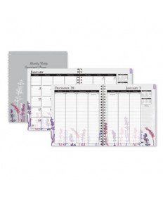 100% Recycled Wild Flower Monthly Weekly Planner, 9 x 7, Wild Flowers, 2021