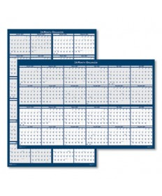 Reversible/Erasable 2 Year Wall Calendar, 24 x 37, Blue, 2020-2021